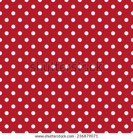 Polka dots background with white dots and red background - stock photo