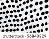 Polka dots farbric texture - stock photo