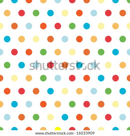 Polka Dots pattern in bright colors - stock photo