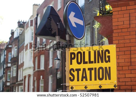 Polling Station in UK General Election 2010 - stock photo