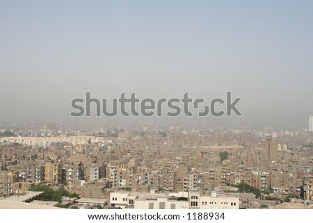 Polluted City - stock photo