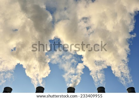 Pollution air. Industrial smoke - stock photo