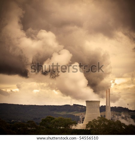 Pollution and green house gasses - stock photo