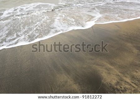 pollution beach - stock photo