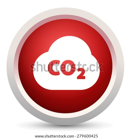 pollution co2 icon  - stock photo