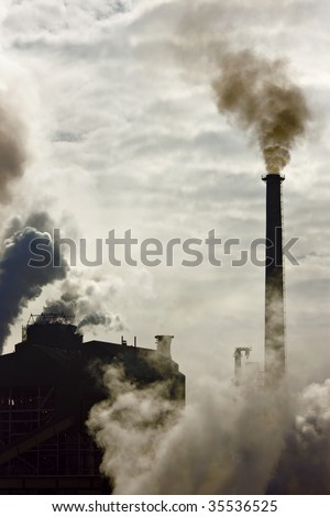 Pollution effect from industrial factory