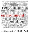 pollution environment info-text graphics with square shape - stock