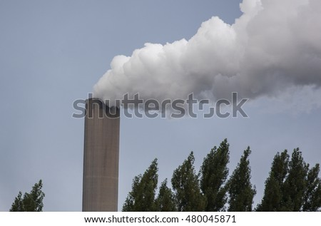 Pollution of a power plant