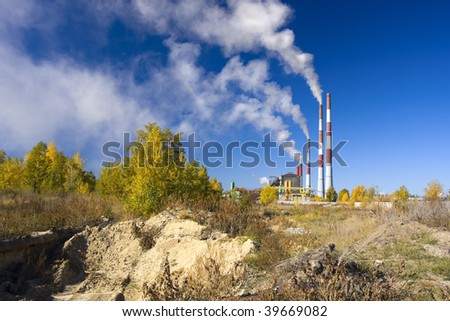 pollution of environment - stock photo
