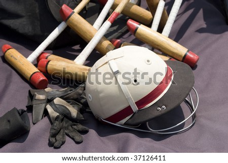 Polo Equipment - stock photo