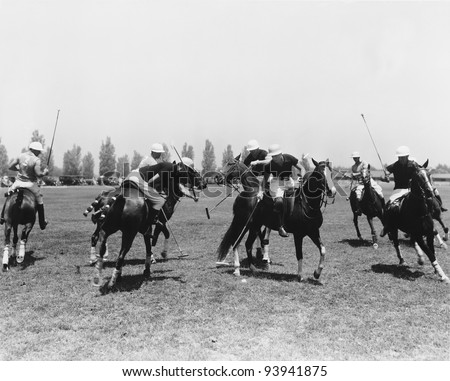 POLO MATCH - stock photo