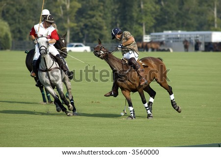 Polo player makes a last second turn