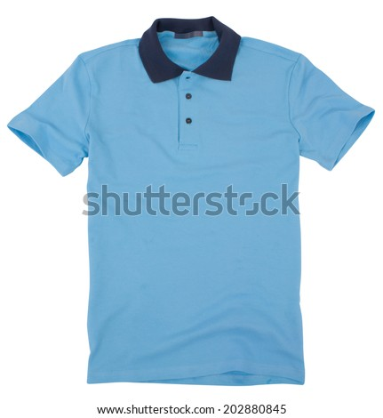 Polo shirt isolated on a white background. - stock photo