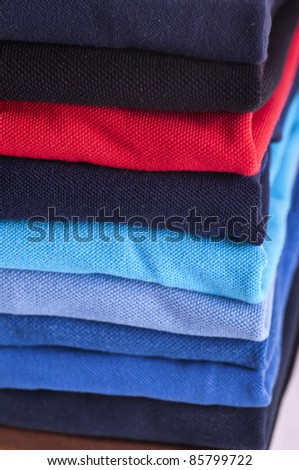 Polo shirts different colours - stock photo
