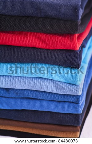Polo shirts various colors - stock photo