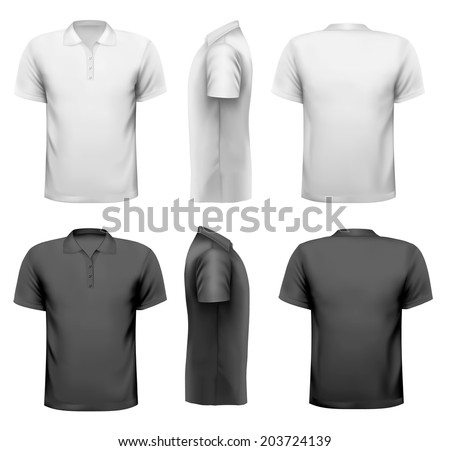 Polo shirts with sample text space - stock photo