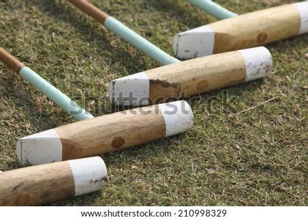 Polo Sticks - stock photo