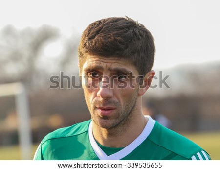 POLTAVA, UKRAINE - MARCH, 12: Anton Shynder of FC Vorskla during the friendly match against FC Sumy at the Ltava stadium on March 12, 2016 in Poltava, Ukraine.