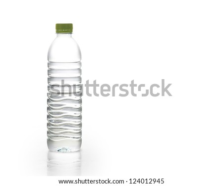 Polycarbonate plastic bottles of mineral water of bottle - stock photo