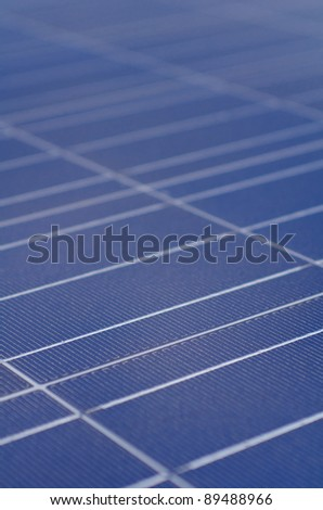 Polycrystalline solar cells - stock photo