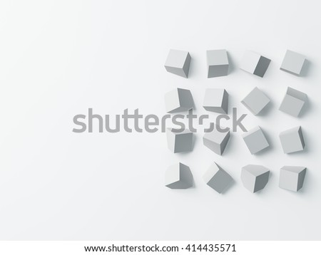 Polygon background. Flat lay, top view. 3D image - stock photo