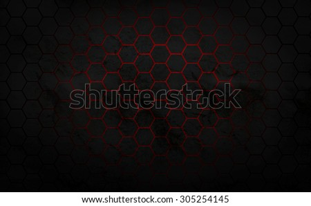polygon hitch technology black and red background .for flyer design ,magazine ,wallpaper,web design - stock photo
