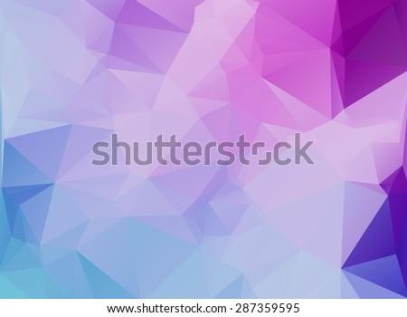 polygonal background - stock photo