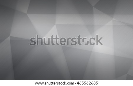 Polygonal background, brushed metal texture, neutral gray surface