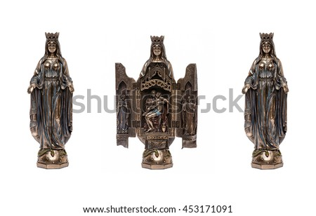 Polyptych Of The Mother Of God - stock photo