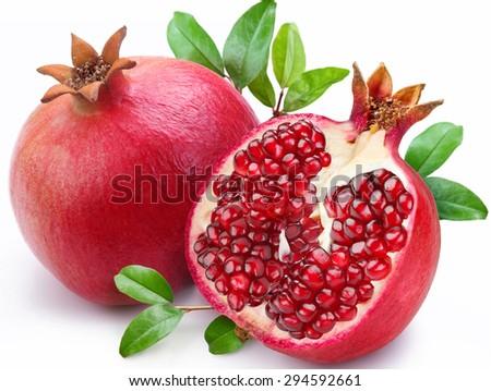 Pomegranate, Fruit, Freshness. - stock photo