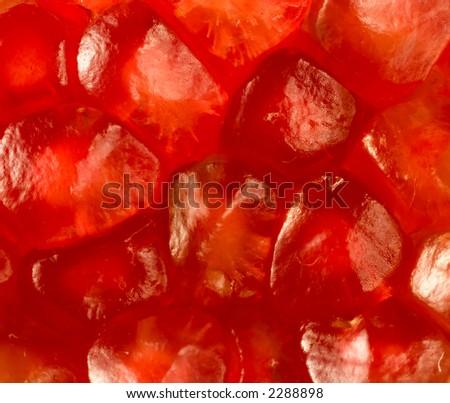 Pomegranate grains detailed - stock photo