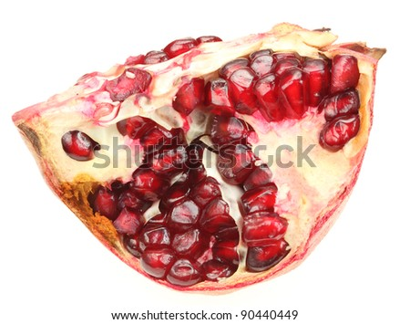 Pomegranate isolated over white background