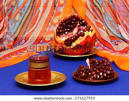 Pomegranate juice - stock photo