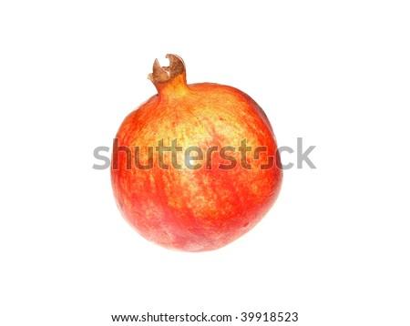 pomegranate on a white background - stock photo