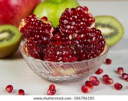 pomegranates - stock photo