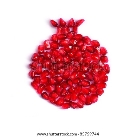 pomegrante - stock photo