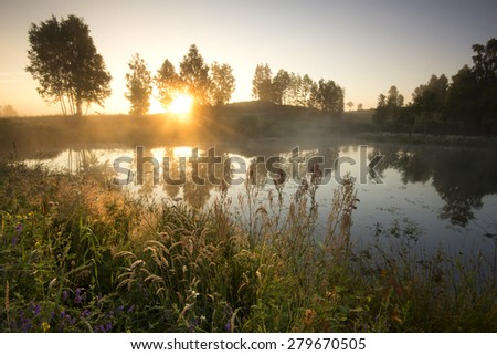 Pomerania, Poland./ Morning Light - stock photo