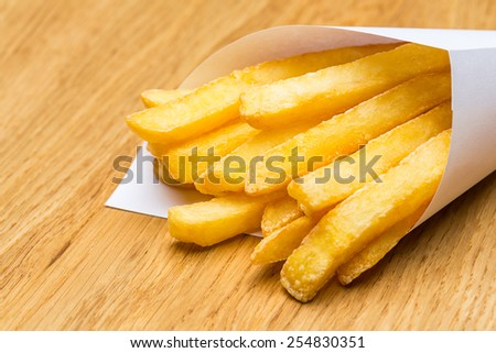 Pommes Frites fries in a bag