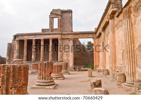 Pompei ruins Italy - stock photo