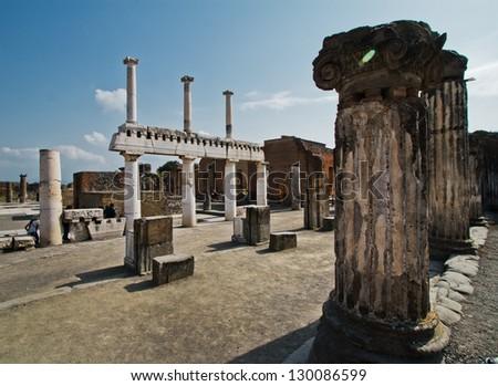 Pompeii - stock photo