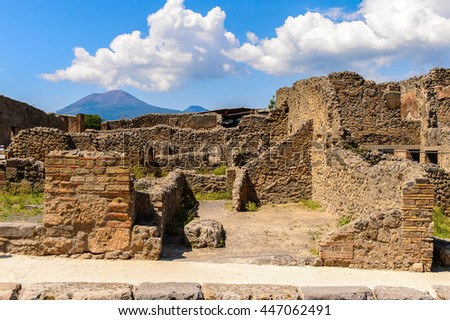 Pompeii, an ancient Roman town destroyed by the volcano Vesuvius. UNESCO World Heritage site