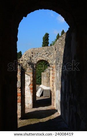 Pompeii roman house - stock photo