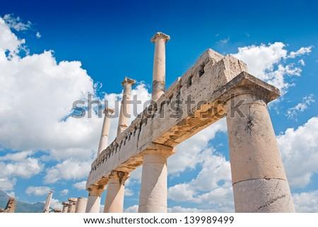 Pompeii ruins - stock photo