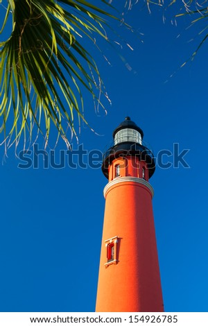Ponce de Leon Inlet Lighthouse And Museum, Daytona Beach, Florida, USA - stock photo