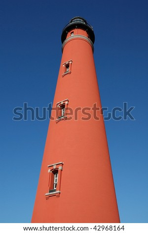 Ponce De Leon Inlet Lighthouse Tower - stock photo