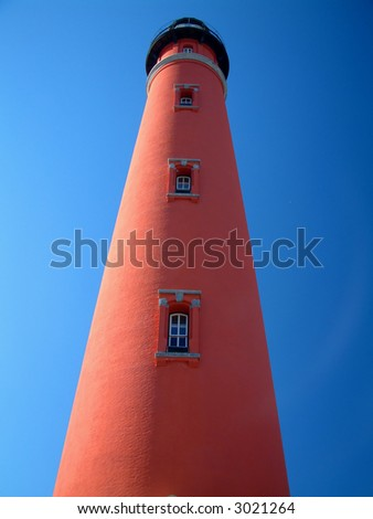 Ponce Inlet lighthouse - stock photo