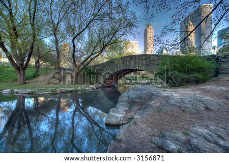 Pond in Central Park, New York City,Manhattan,United states of  America