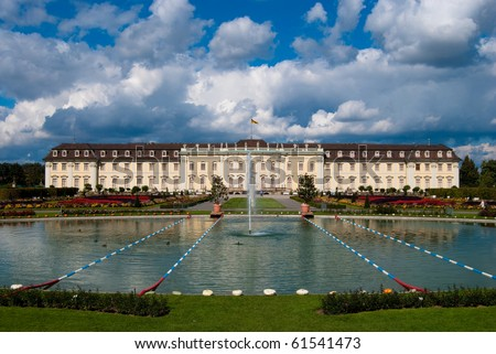 Pond in front of the royal palace, Stuttgart-Ludwigsburg, Germany