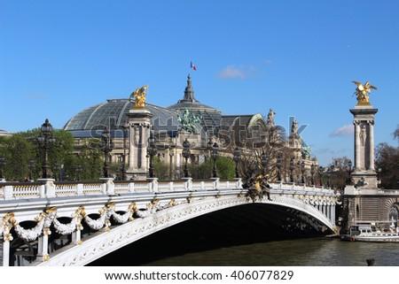 Pont Alexander Paris France - stock photo