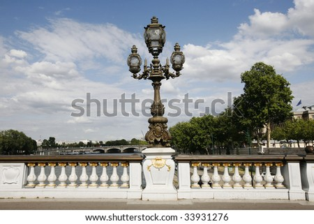 Pont Alexandre III Paris - stock photo